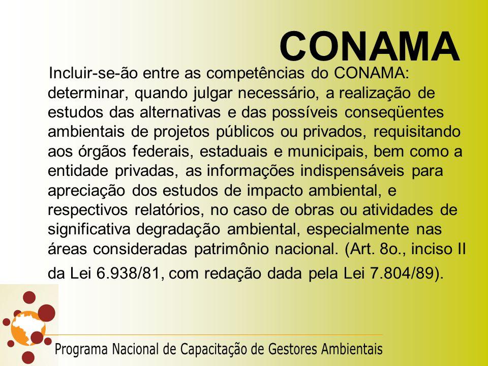 CONAMA Programa Nacional de Capacitação de Gestores Ambientais