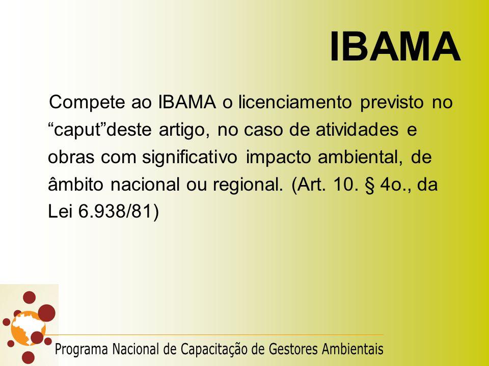 IBAMA Programa Nacional de Capacitação de Gestores Ambientais