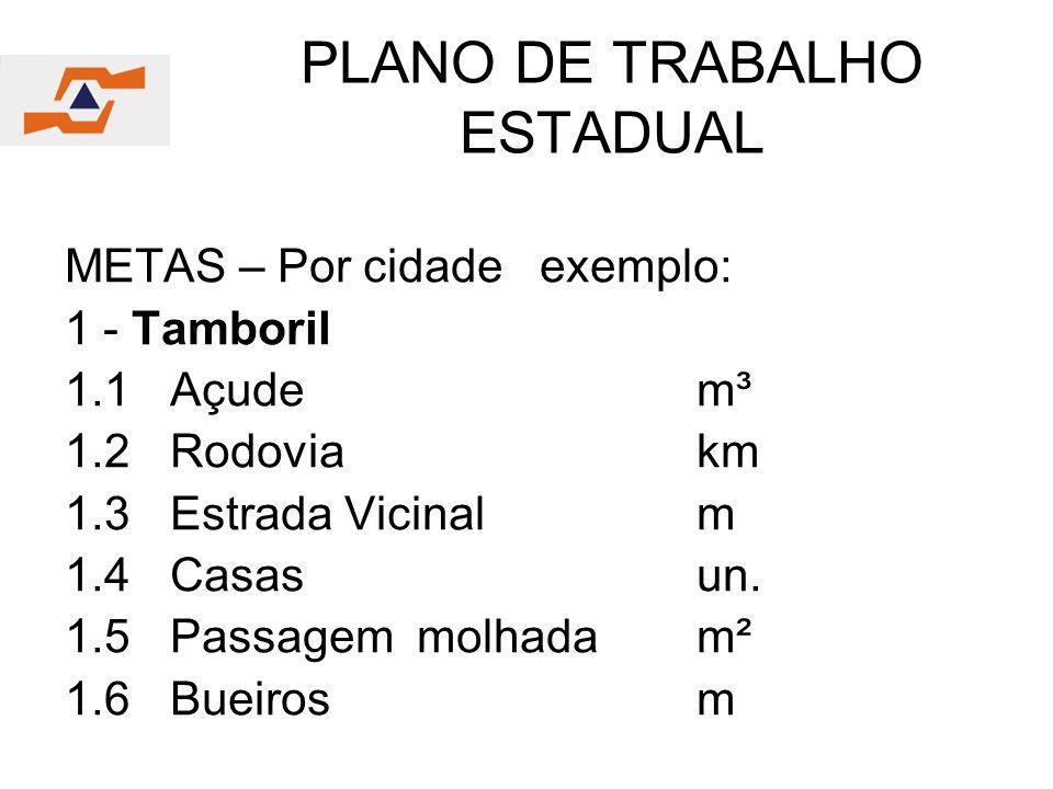 PLANO DE TRABALHO ESTADUAL