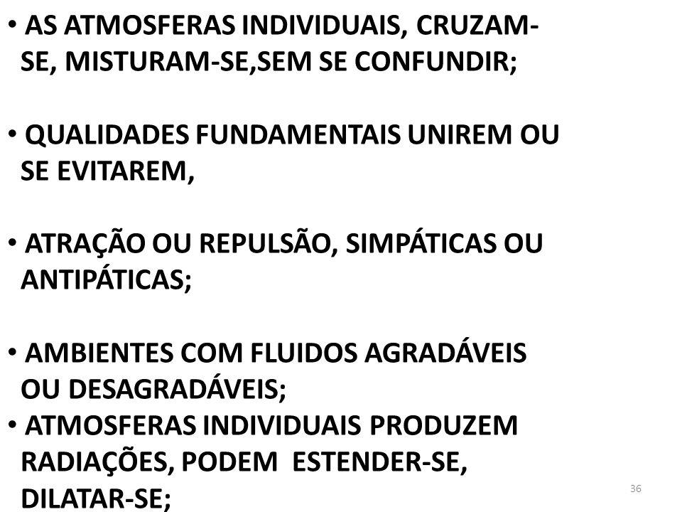 AS ATMOSFERAS INDIVIDUAIS, CRUZAM-