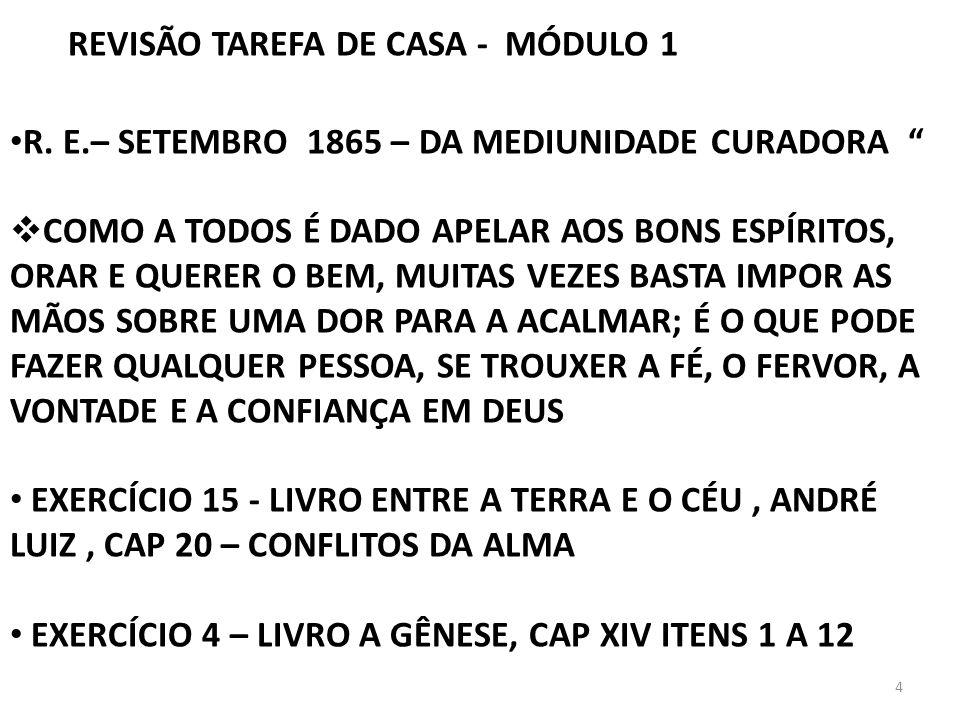 REVISÃO TAREFA DE CASA - MÓDULO 1