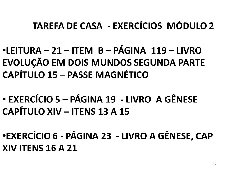 TAREFA DE CASA - EXERCÍCIOS MÓDULO 2