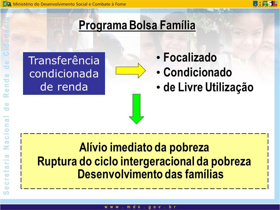 Programa Bolsa Família Alívio imediato da pobreza