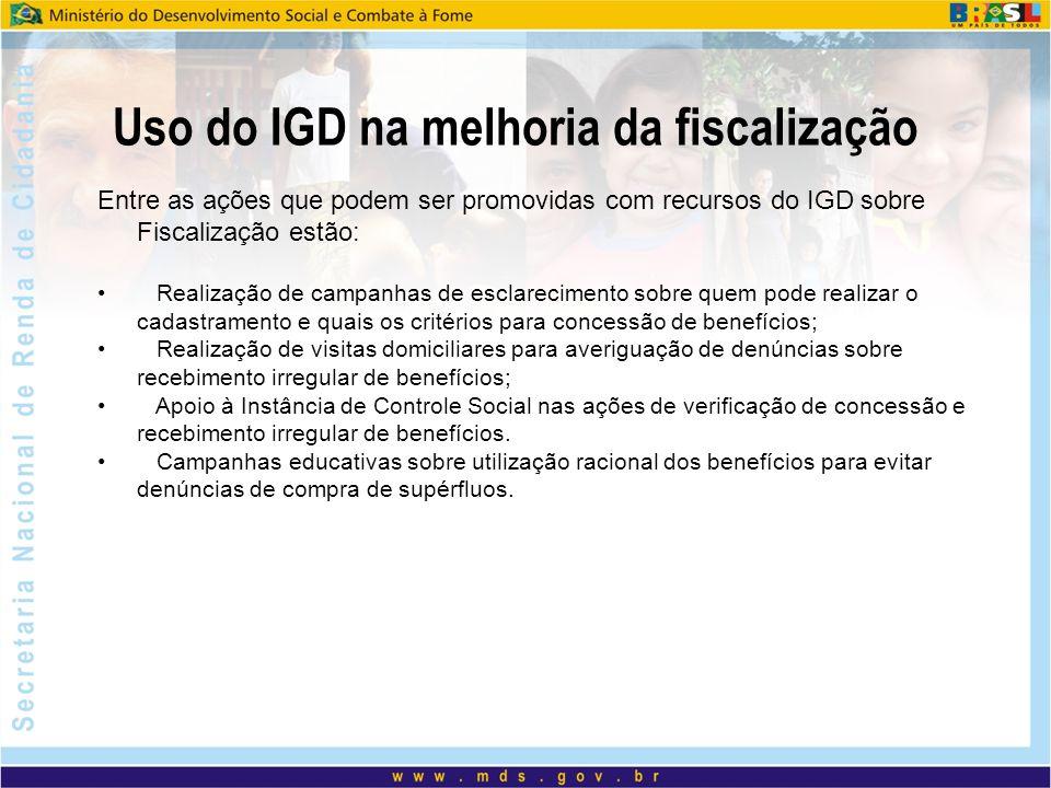 Uso do IGD na melhoria da fiscalização