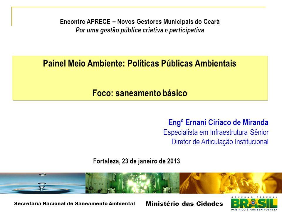 Painel Meio Ambiente: Políticas Públicas Ambientais