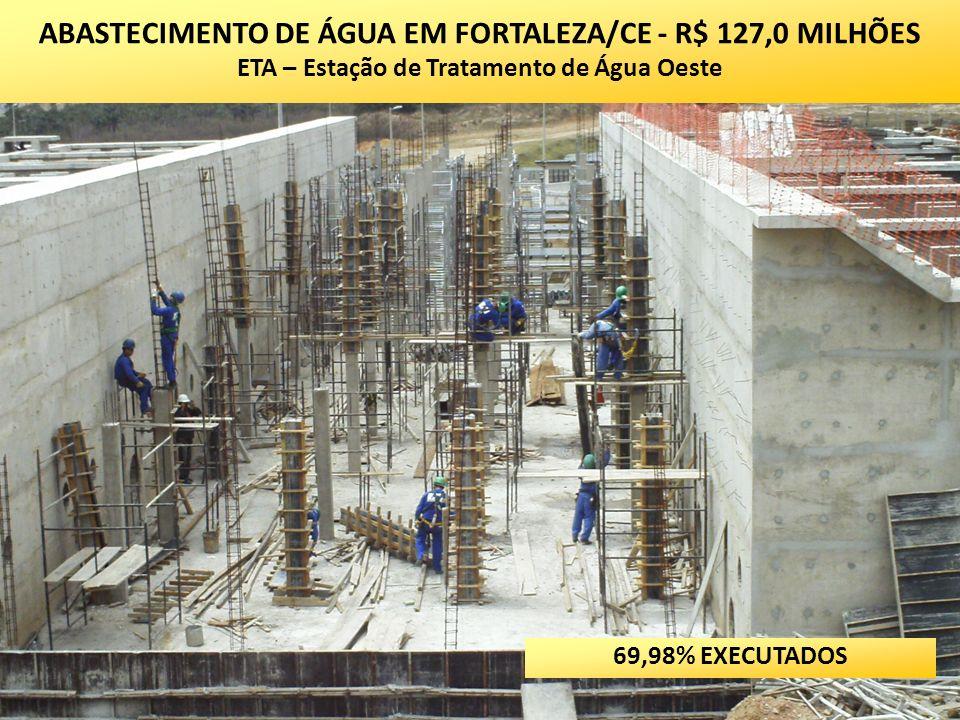 ABASTECIMENTO DE ÁGUA EM FORTALEZA/CE - R$ 127,0 MILHÕES