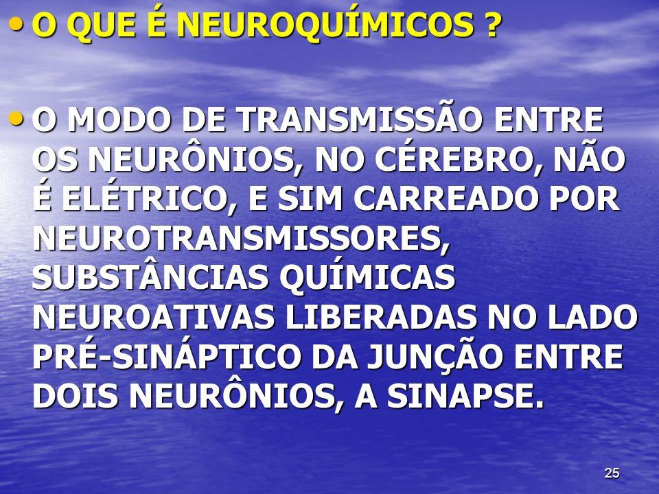 O QUE É NEUROQUÍMICOS