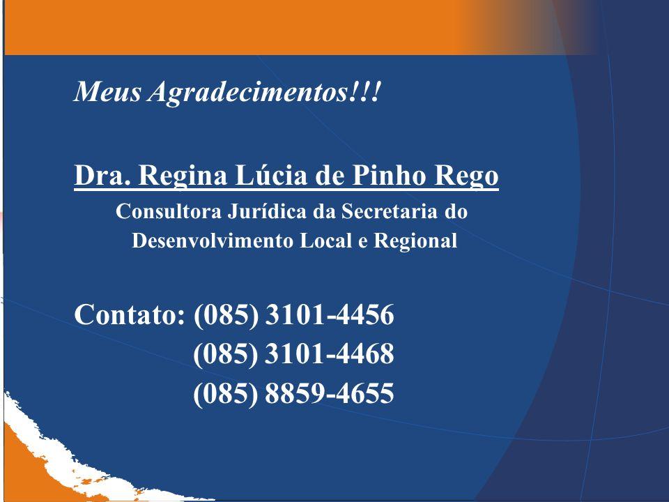 Consultora Jurídica da Secretaria do Desenvolvimento Local e Regional