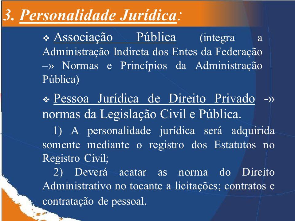 3. Personalidade Jurídica:
