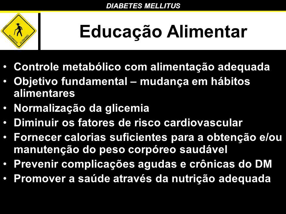 Educação Alimentar Controle metabólico com alimentação adequada