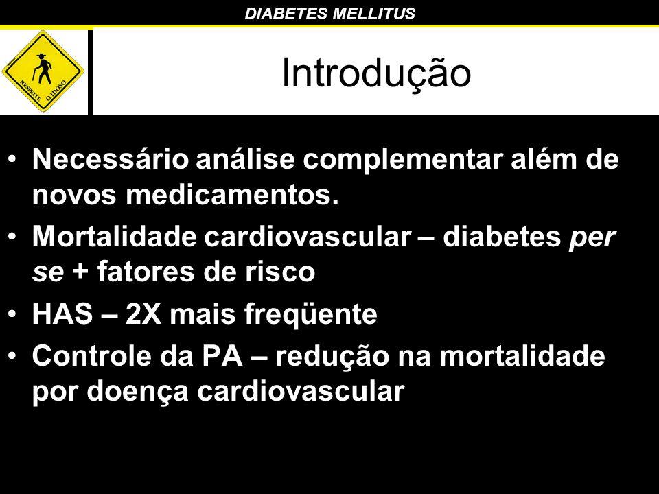 Introdução Necessário análise complementar além de novos medicamentos.