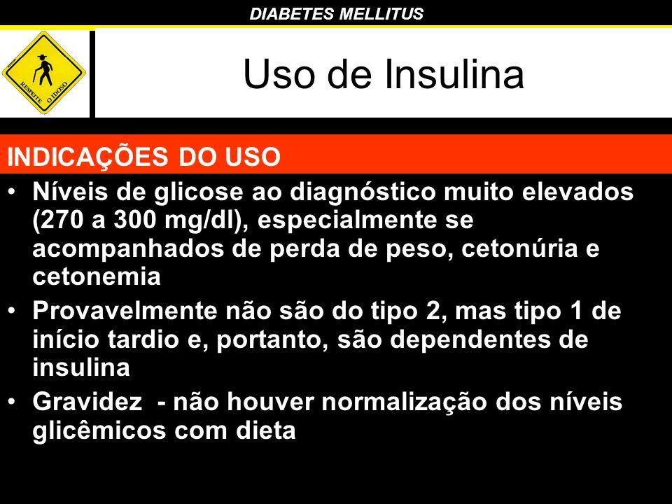 Uso de Insulina INDICAÇÕES DO USO