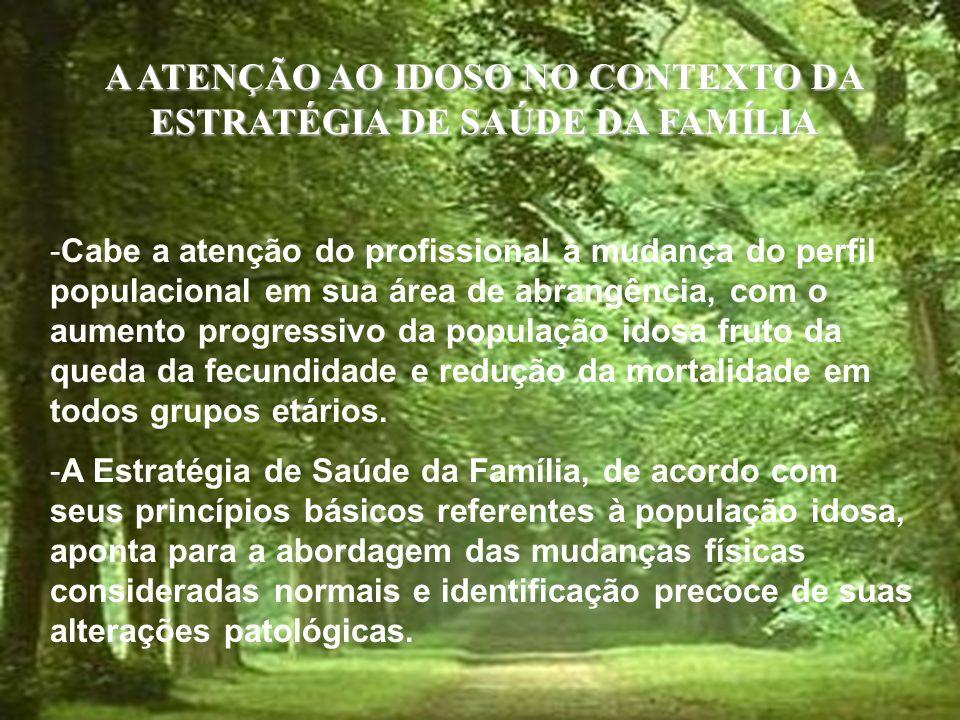A ATENÇÃO AO IDOSO NO CONTEXTO DA ESTRATÉGIA DE SAÚDE DA FAMÍLIA