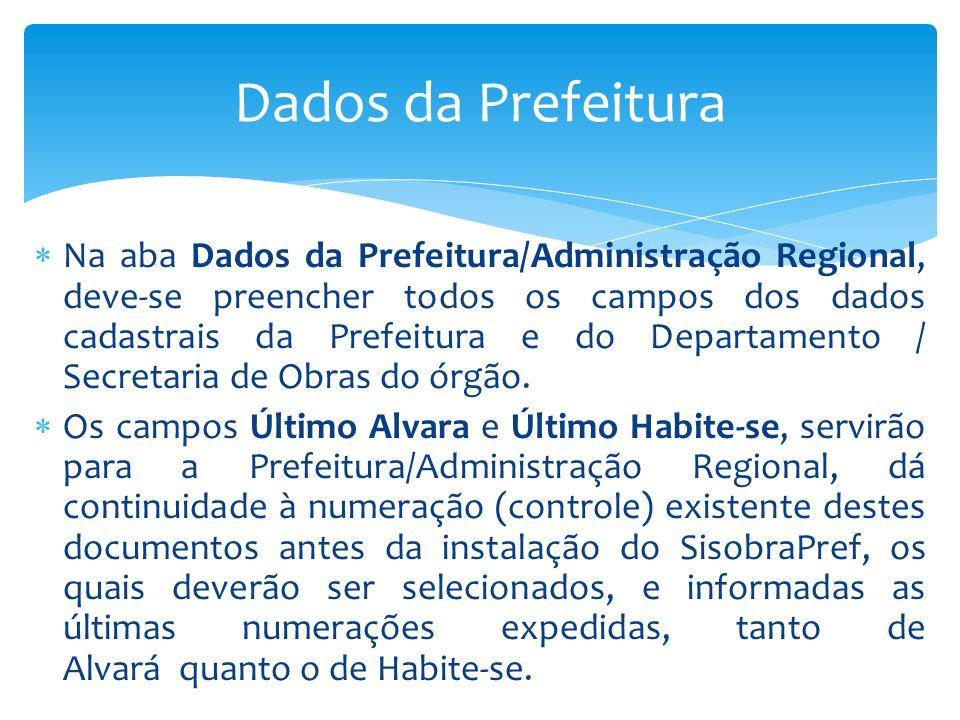 Dados da Prefeitura