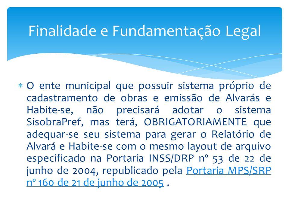 Finalidade e Fundamentação Legal
