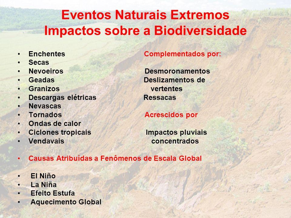 Eventos Naturais Extremos Impactos sobre a Biodiversidade