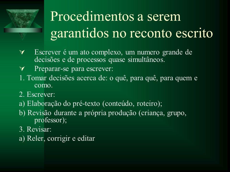 Procedimentos a serem garantidos no reconto escrito
