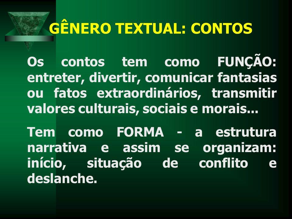 GÊNERO TEXTUAL: CONTOS