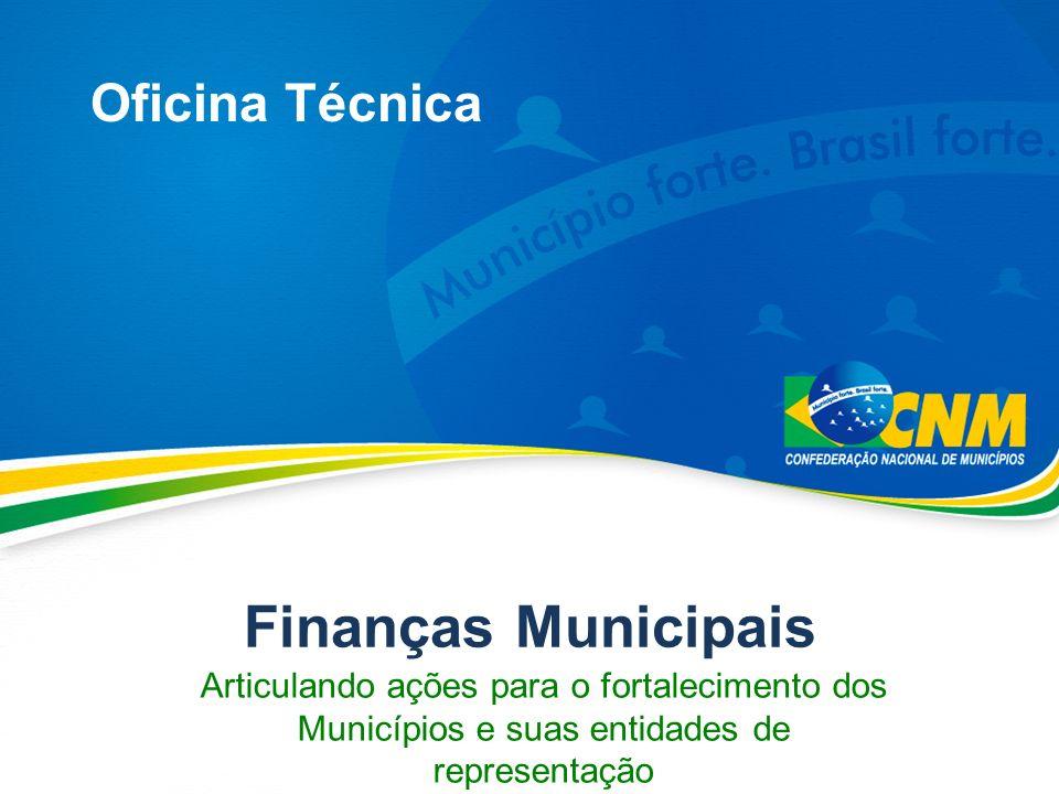 Finanças Municipais Oficina Técnica