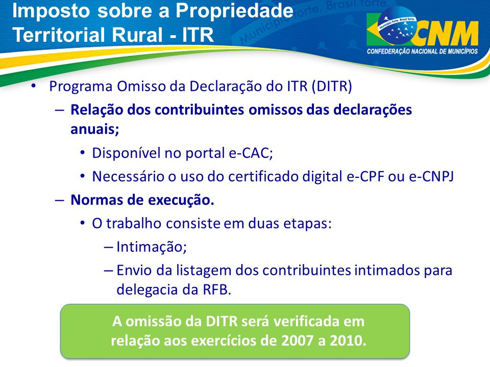 Imposto sobre a Propriedade Territorial Rural - ITR