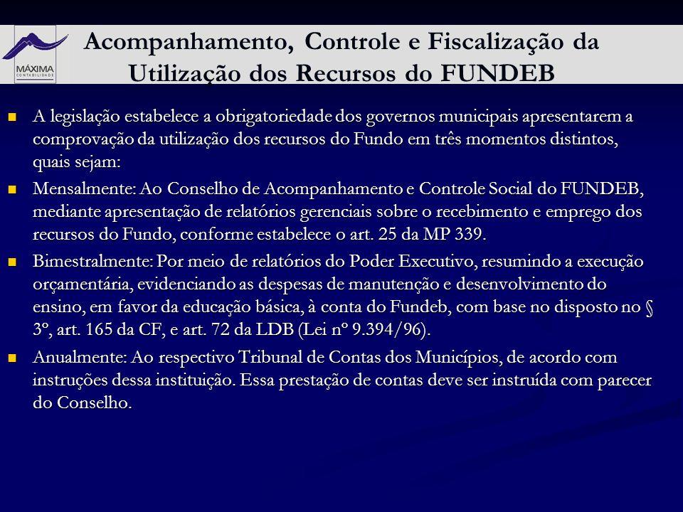 Acompanhamento, Controle e Fiscalização da Utilização dos Recursos do FUNDEB