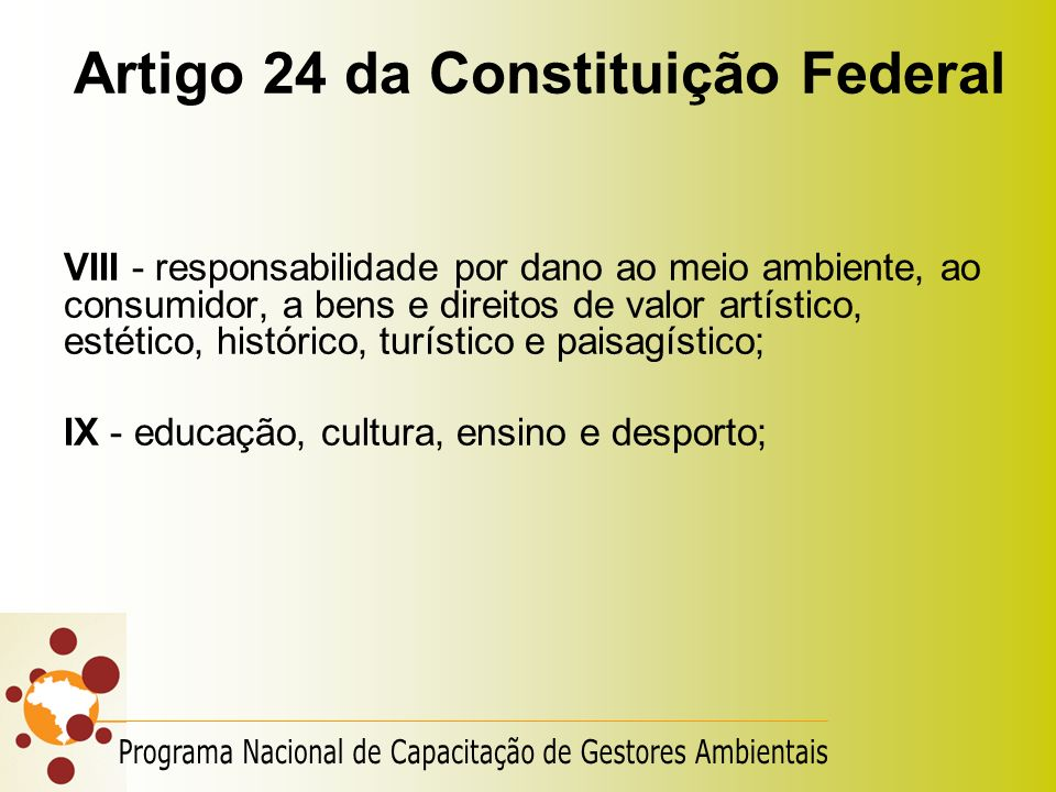 Artigo 24 da Constituição Federal
