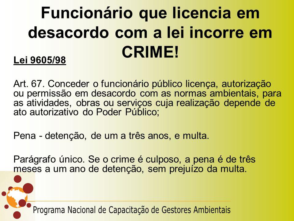 Funcionário que licencia em desacordo com a lei incorre em CRIME!