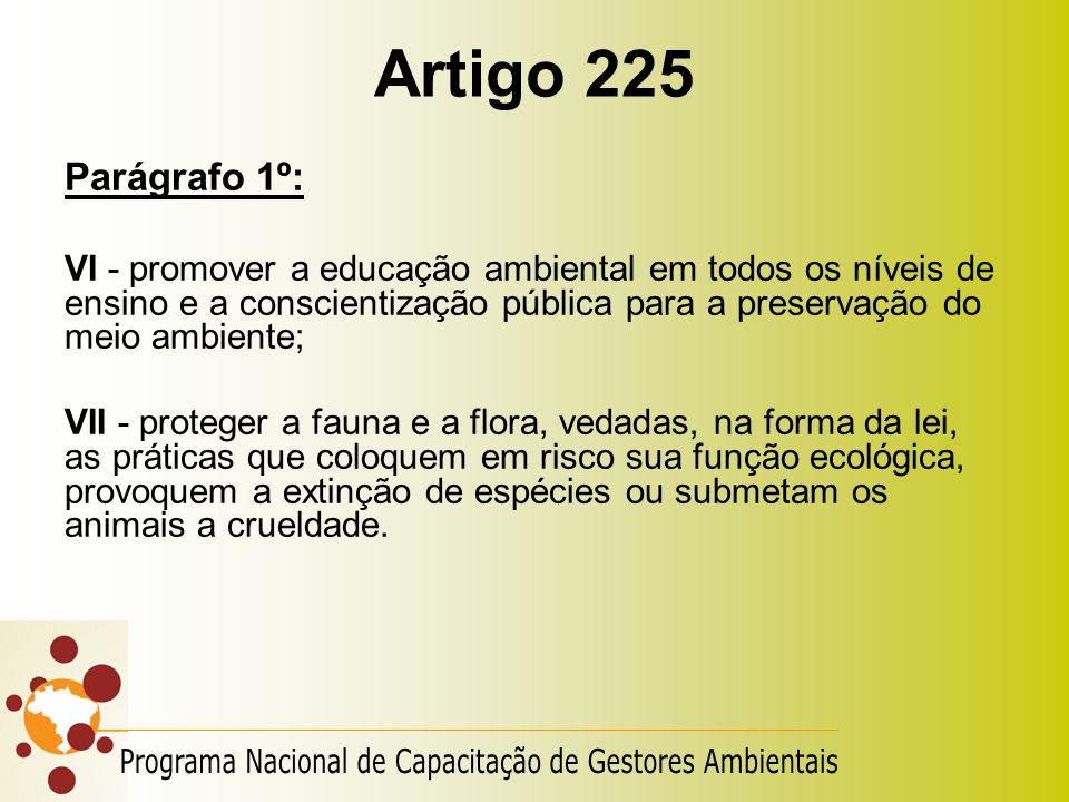 Artigo 225 Programa Nacional de Capacitação de Gestores Ambientais
