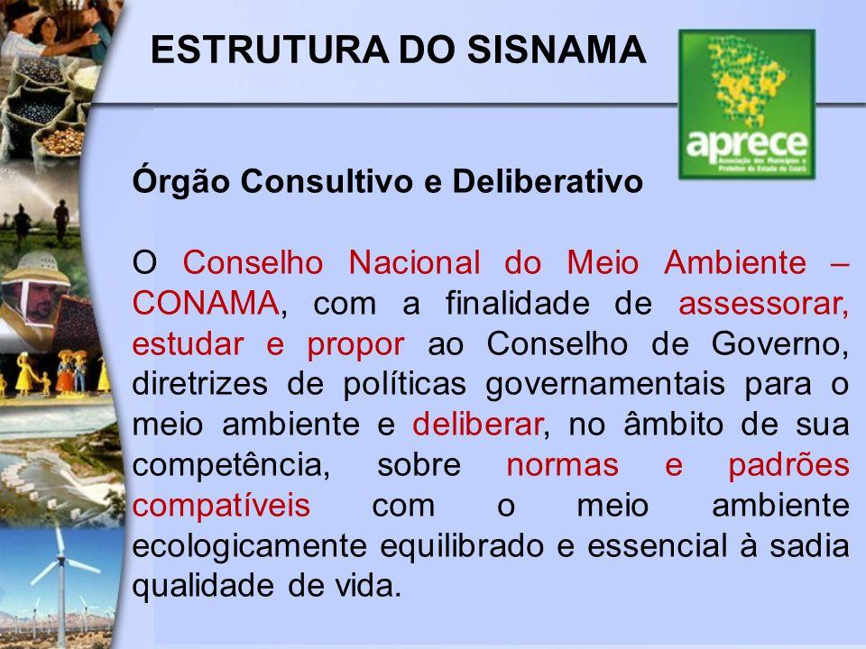 ESTRUTURA DO SISNAMA Órgão Consultivo e Deliberativo