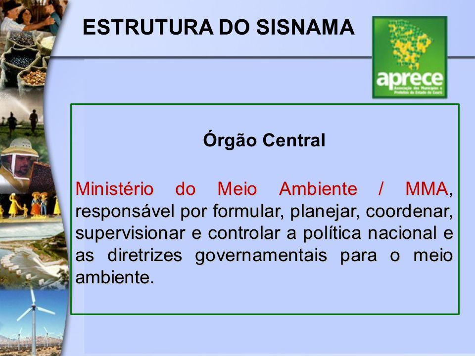 ESTRUTURA DO SISNAMA Órgão Central