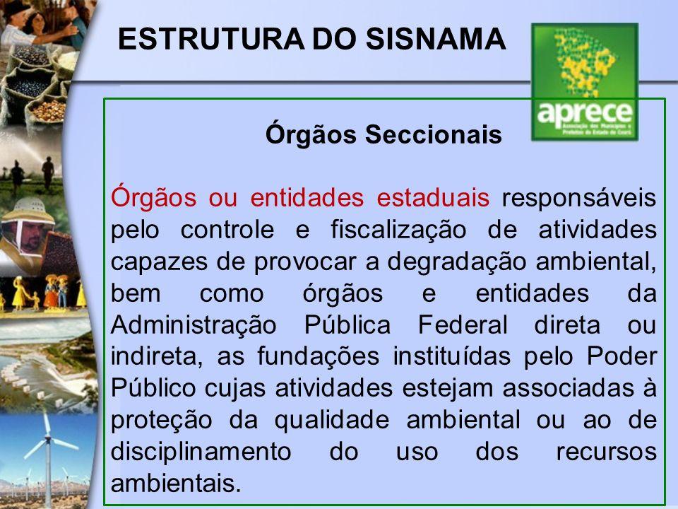 ESTRUTURA DO SISNAMA Órgãos Seccionais