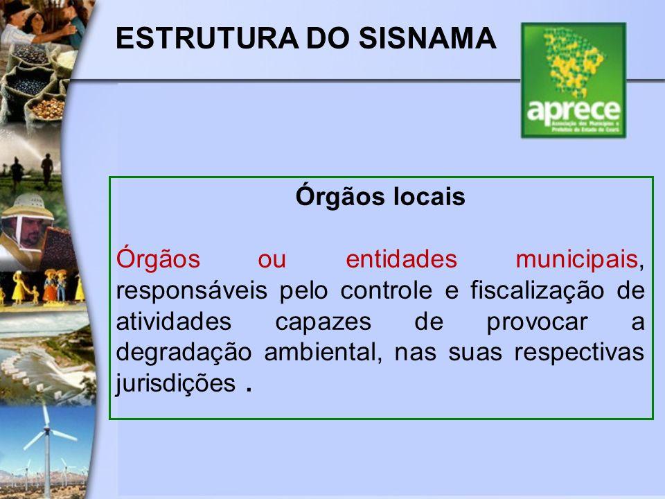 ESTRUTURA DO SISNAMA Órgãos locais