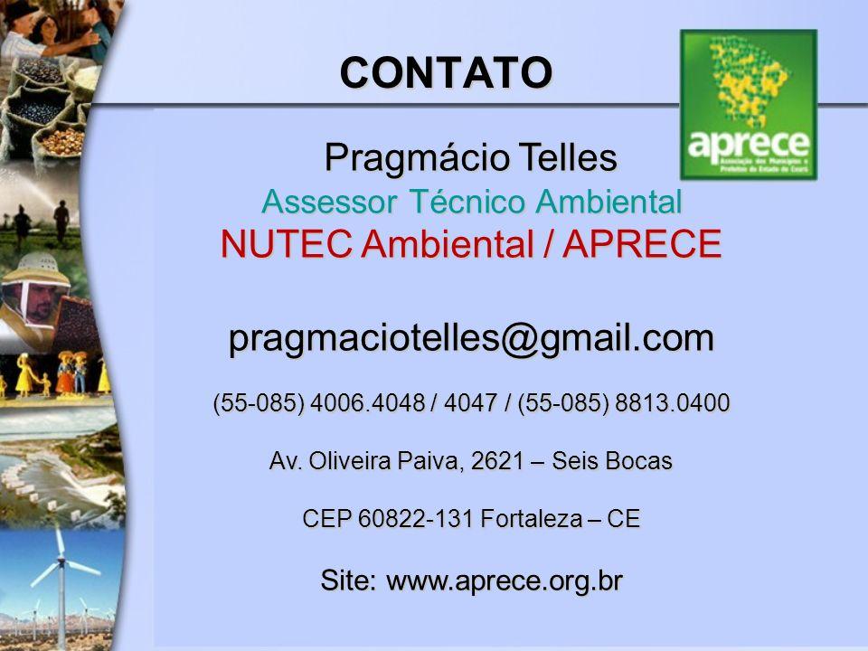 Pragmácio Telles Assessor Técnico Ambiental NUTEC Ambiental / APRECE
