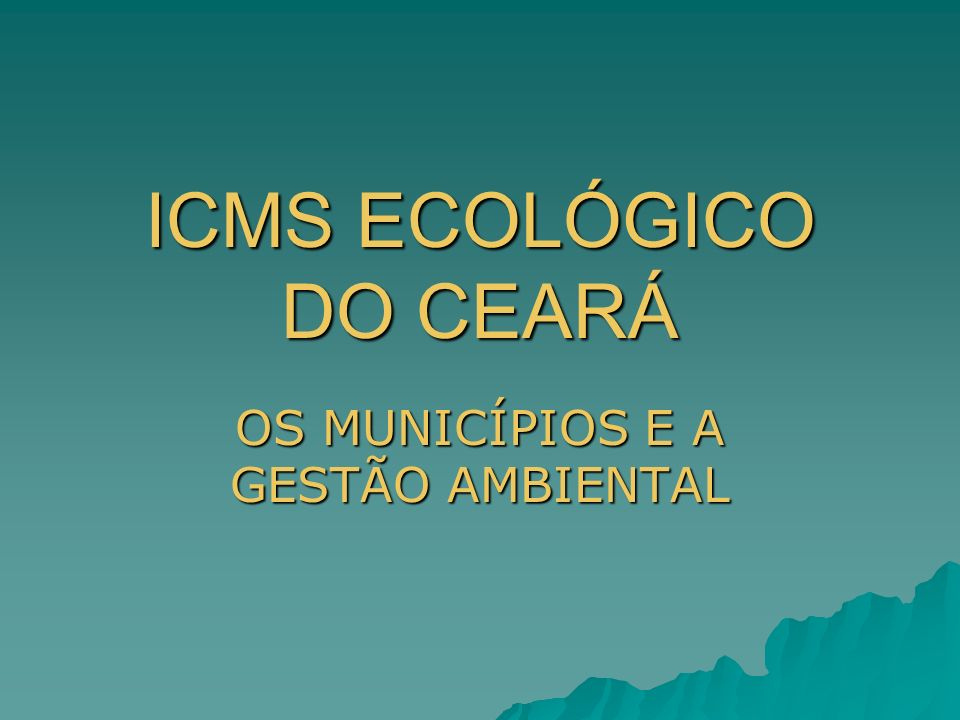 ICMS ECOLÓGICO DO CEARÁ