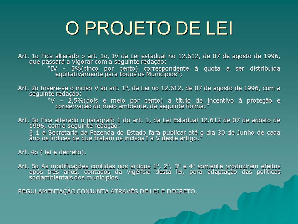 O PROJETO DE LEI
