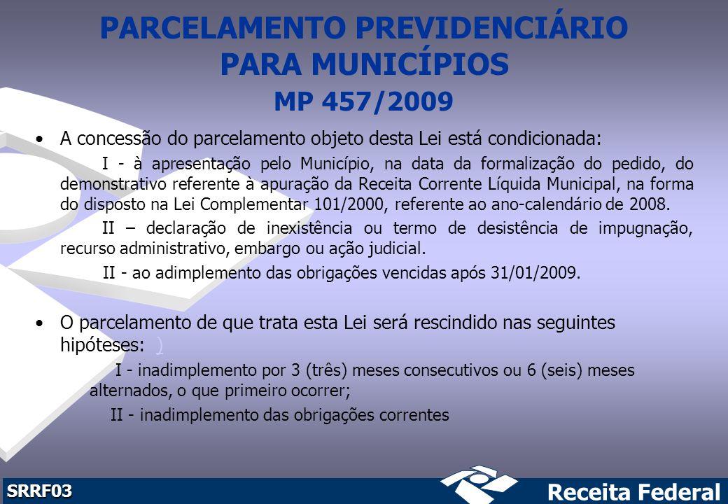 PARCELAMENTO PREVIDENCIÁRIO PARA MUNICÍPIOS