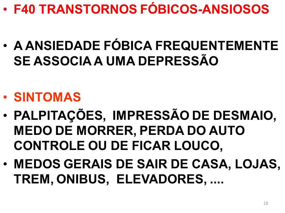 F40 TRANSTORNOS FÓBICOS-ANSIOSOS