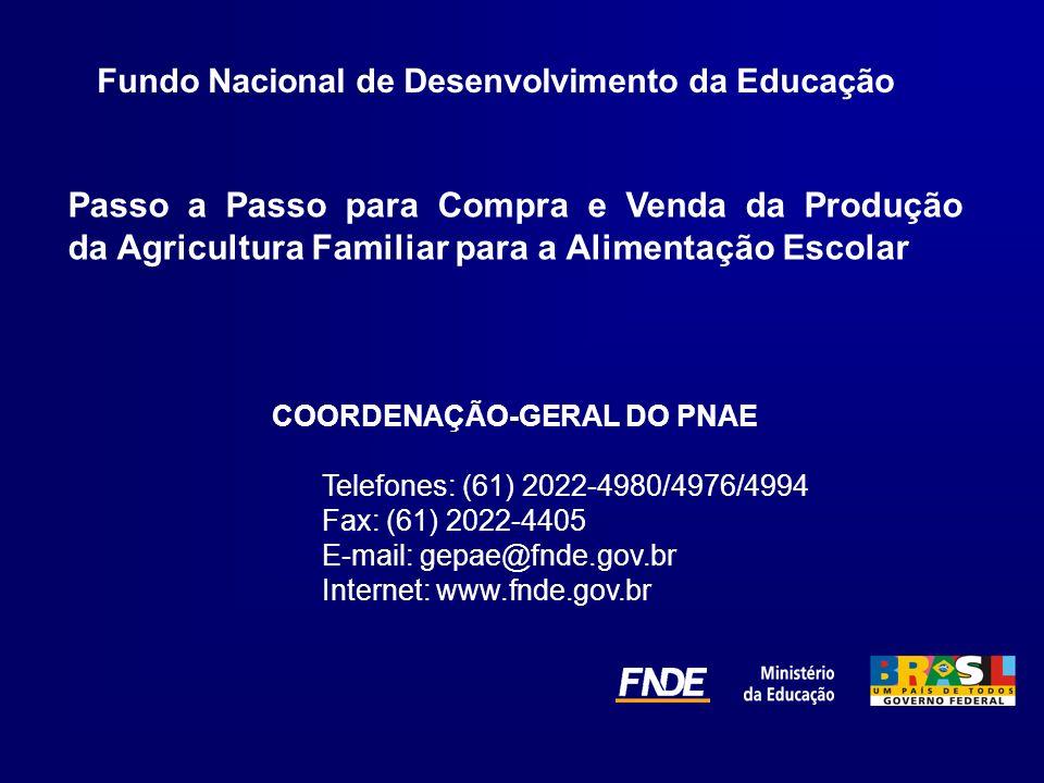 COORDENAÇÃO-GERAL DO PNAE
