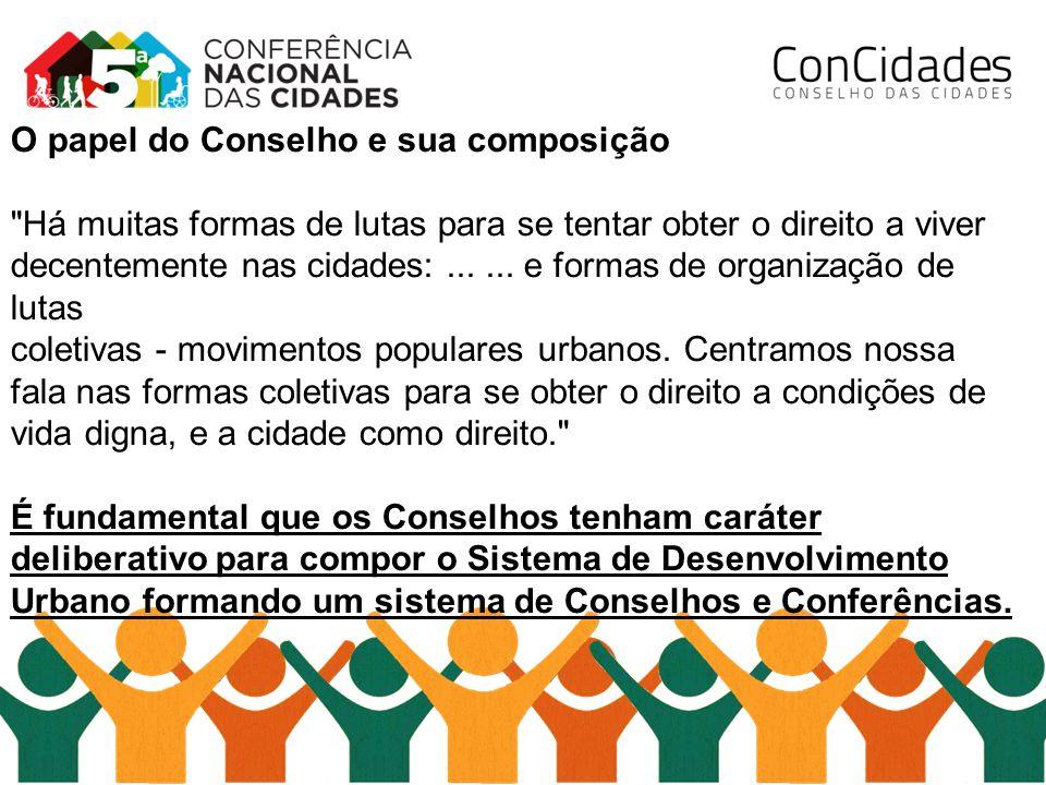 O papel do Conselho e sua composição