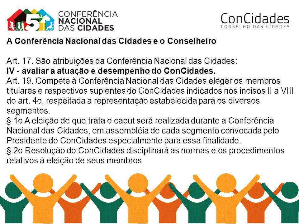 A Conferência Nacional das Cidades e o Conselheiro