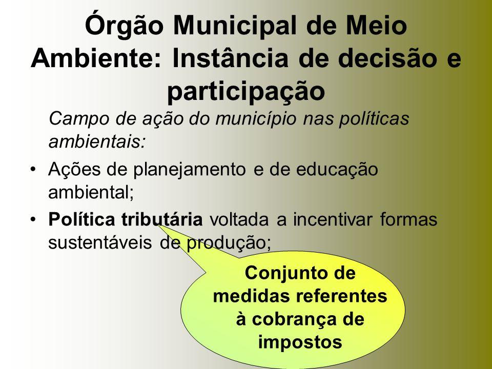 Órgão Municipal de Meio Ambiente: Instância de decisão e participação