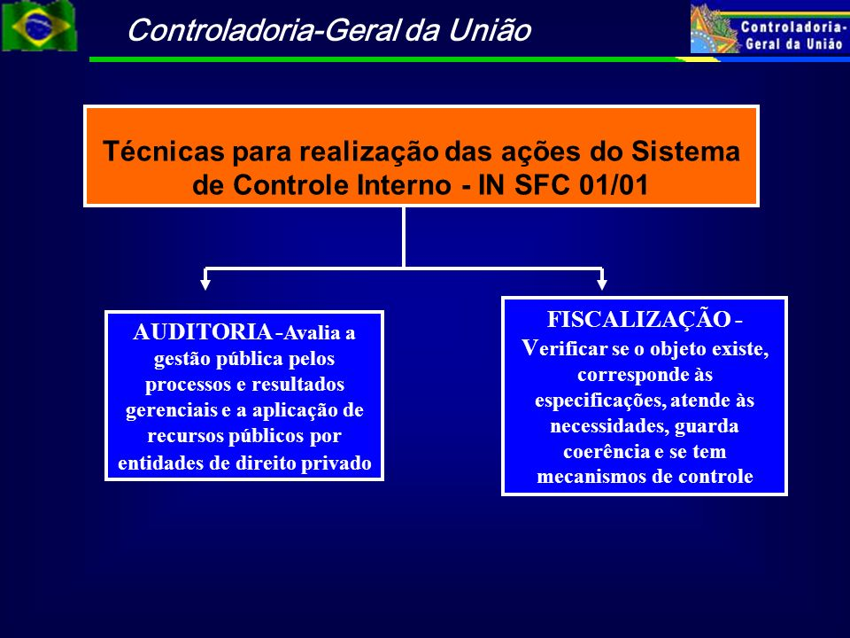 Técnicas para realização das ações do Sistema de Controle Interno - IN SFC 01/01