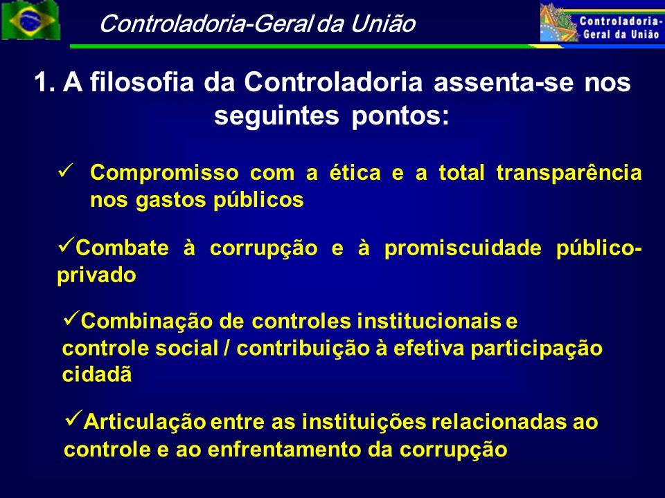 1. A filosofia da Controladoria assenta-se nos seguintes pontos:
