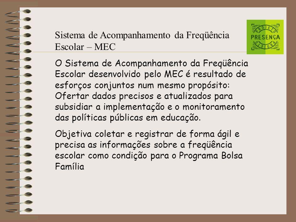 Sistema de Acompanhamento da Freqüência Escolar – MEC
