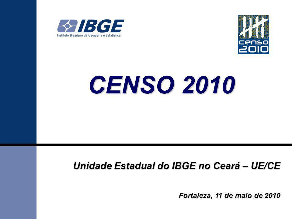 CENSO 2010 Unidade Estadual do IBGE no Ceará – UE/CE