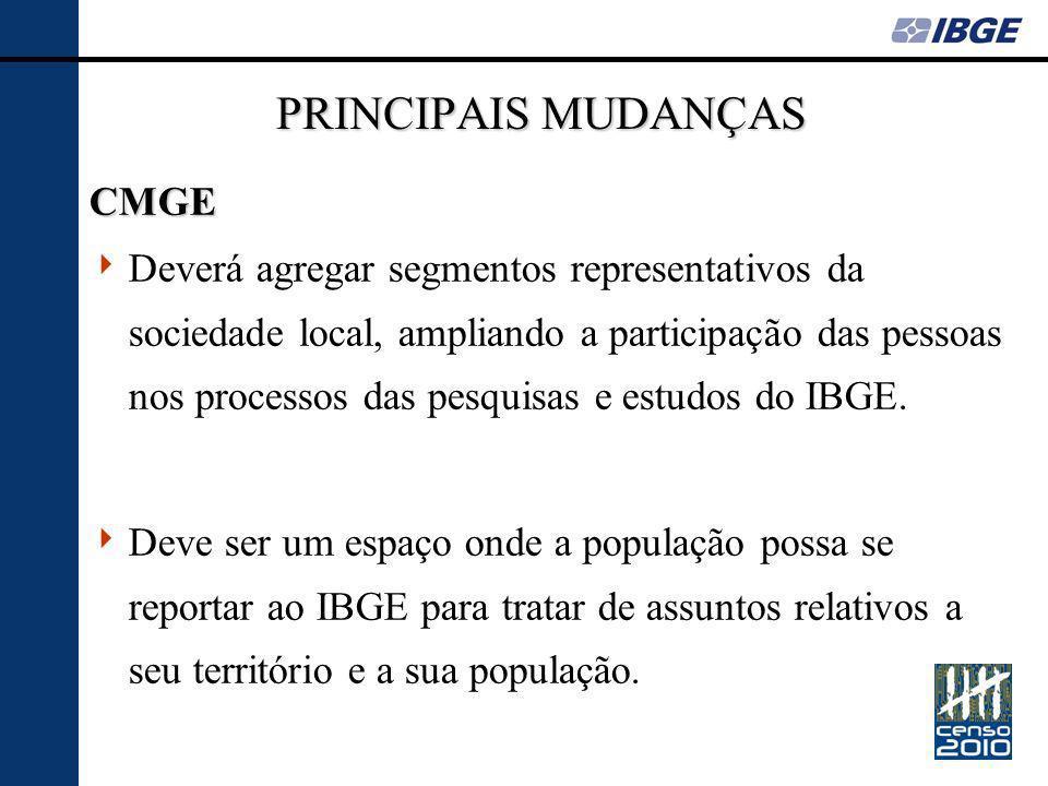 PRINCIPAIS MUDANÇAS CMGE