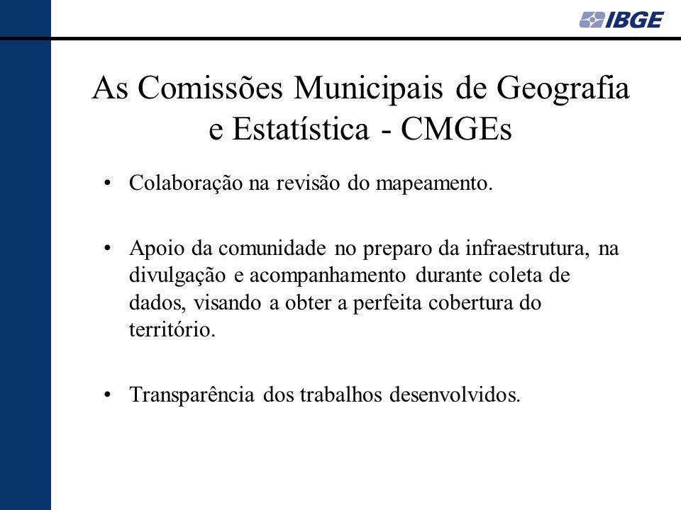 As Comissões Municipais de Geografia e Estatística - CMGEs