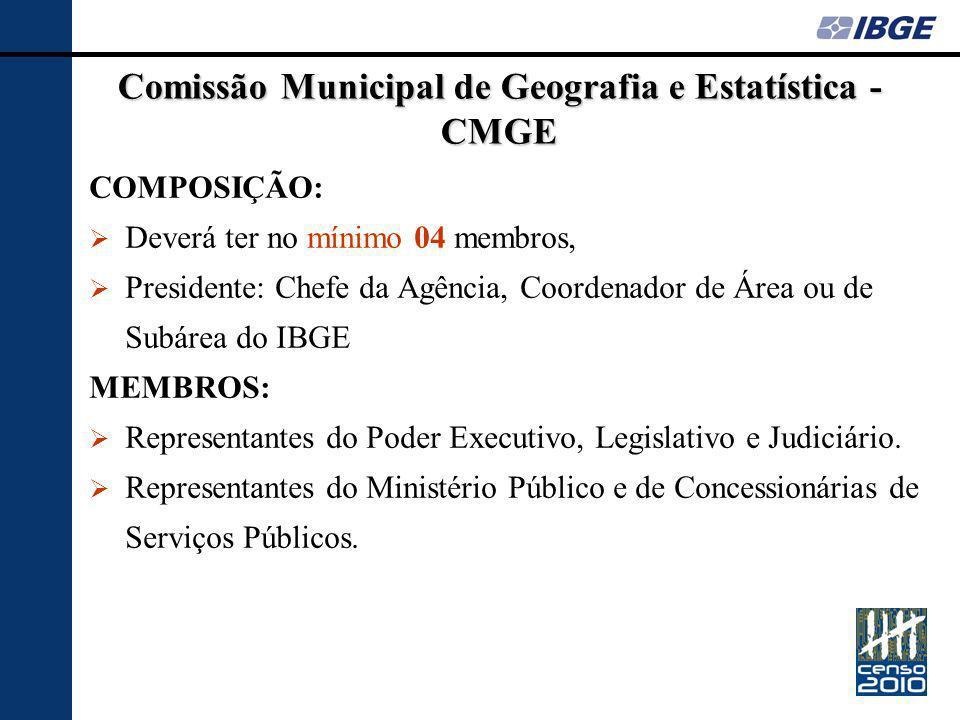 Comissão Municipal de Geografia e Estatística - CMGE