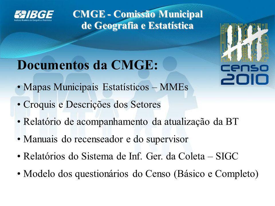 CMGE - Comissão Municipal de Geografia e Estatística
