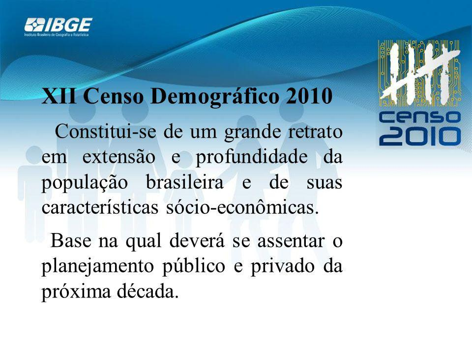 XII Censo Demográfico 2010